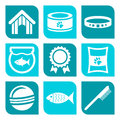 Collection of pet care icons vector illustration Stock Image