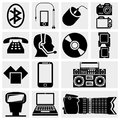 Collection of photo and media icons vector icons set on grey background eps file available Stock Images
