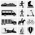 Collection of photo and media vector icons set isolated on grey background eps file available Stock Image