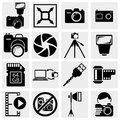 Collection of photography icons vector icons set isolated on grey background eps file available Stock Photography