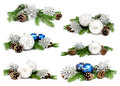 Collection of photos christmas decoration balls Royalty Free Stock Photo