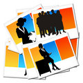 Collection of pictures with workers Royalty Free Stock Photo