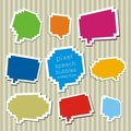 A collection of pixel speech bubbles Stock Photo