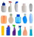 Collection of plastic and glass bottles Stock Images