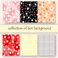 Collection of poka dot background,texture set