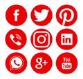 Collection of popular social media logos