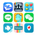 Collection of popular social networking icons