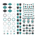 Collection of premium design elements. Set of geometric shapes, Royalty Free Stock Photo