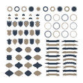 Collection of premium design elements. Set of ribbons, geometric Royalty Free Stock Photo