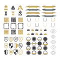 Collection of premium design elements. Set of ribbons, geometric