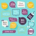 Collection of premium promo seals/stickers. vector illu
