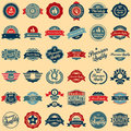 Collection of Premium Quality and Guarantee Labels Royalty Free Stock Photo