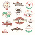 Collection of premium quality vintage labels and badges eps Stock Images
