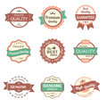 Collection of premium quality vintage labels and badges eps Royalty Free Stock Photography