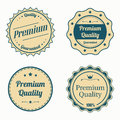 Collection of premium quality vintage labels in color eps vector Royalty Free Stock Photo