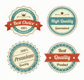 Collection of premium quality vintage labels in color eps vector Royalty Free Stock Photography