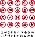 Collection prohibition signs Royalty Free Stock Photos