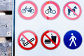 Collection of prohibition signs Royalty Free Stock Photo