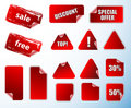 Collection of promotion labels. Stock Photography