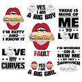 Collection of quote typographical background about fat