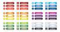 A collection of rainbow blank web buttons Royalty Free Stock Photo