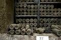 Collection Rare wines in Massandra winery, Yalta, Crimea Royalty Free Stock Photo