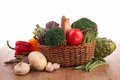 Collection raw vegetables wood Stock Photography