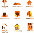 Collection of real estate logo Royalty Free Stock Photos