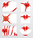 Collection of red bows Stock Photography