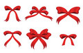 Collection of red bows Royalty Free Stock Photography