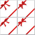 Collection of red bows Royalty Free Stock Images