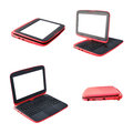 Collection red laptop Royalty Free Stock Images
