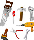Collection of repair tool cartoon