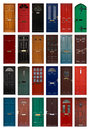 Collection residential front doors good estate agents symbolizing opening new doors Stock Image