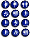 Collection of restroom people pictograms Royalty Free Stock Images