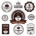 Collection of Retro Coffee Label Design