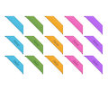 Collection of retro corner ribbons Royalty Free Stock Photography