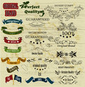 Collection of retro labels best, original genuine and high quali Royalty Free Stock Image