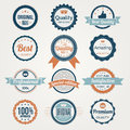 Collection of retro premium quality labels special edition Royalty Free Stock Photography