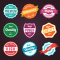 Collection of retro vintage colorful design labels Royalty Free Stock Photos
