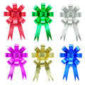 Collection of ribbon bow on white background Royalty Free Stock Photography