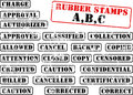 Collection of rubber stamp ABC Stock Photo
