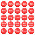 Collection of sale buttons Royalty Free Stock Photo