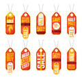 Collection of sale labels price tags banners stickers badges tem