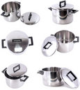 Collection of saucepans Royalty Free Stock Photo