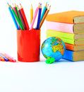 Collection school accessories creative background Stock Photography