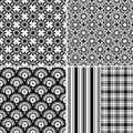 Collection seamless patterns Stock Photo