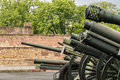 Collection of Second World War cannons at the Belgrade Military