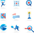 Collection of seo icons and logos Royalty Free Stock Images