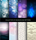 Collection set of 8 background patterns